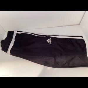 Adidas Track Pants, full length stripes
